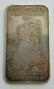 1988 Best Wishes On Your Wedding Day 1 Troy Oz .999 Silver Bar