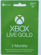 Microsoft Xbox Game Pass Gift Card Ultimate Gold 14 25 29 50 Games Device Month