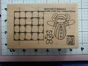 New Wood Rubber Stamp 3d Moving Kinetic Art Matchbox Nighttime Mouse Girl Scout