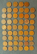 Roll Of 1909 Indian Head Pennies, Circulated. + 2 Extra. 52 Coins