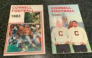 Vintage 1983 And 1986 Cornell Big Red College Football Media Guides Ivy League