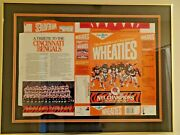 1989 Wheaties Cincinnati Bengals Box Signed By Players Framed/matted Only One