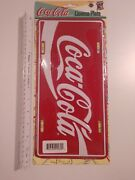 1990's Coca-cola License Plate New With Packaging