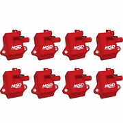 82858 Msd Ignition Coils Pro Power Series '97-'04 Gm Ls1/ls6 Engines Red 8-pack