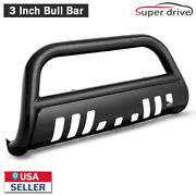 Fits 1995-1999 Chevy Tahoe Black Powder Coated Bull Bar Grill Guard Front Bumper