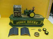 Vintage Cast Iron John Deere Tractor Piggy Bank For Parts Or Repair