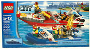 Lego 60005 City Fire Boat New Factory Sealed 222 Pieces Ages 5-12 Really Floats