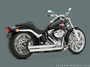 Harley 86-11 Softails 18001 Vance And Hines Double Barrel Exhaust System Pipes
