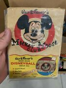 Rare Vintage Mickey Mouse Club Disneyball Puff-up Ball In Original Box