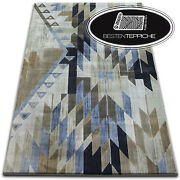Novelty Pattern Modern Carpet And039jasmine Dropand039 Blue Thick And Nizza To Touch Soft