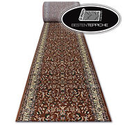 Thick Classic Runner Royal Braun Flowers Width 27 5/8-59 1/8in Traditional