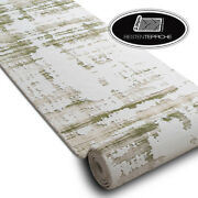 Modern Exclusive Very Thick Runner And039dizaynand039 Green Width 31 1/2-47 3/16in Best