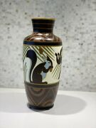 Charles Catteau Boch Freres Keramis Vase With Squirrels. D1349 F723 From 1930
