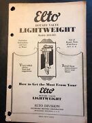 1920and039s Elto Rotary Valve Lightweight Outboard Operating Instructions Manual Part