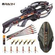 Ravin R26 400 Fps Crossbow + Soft Case W 6 Lighted Nocks 6 Broadheads And Fluid