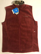 Columbia Phg Fleece Vest Jacket Full Zip Realtree Hunting Red New Menand039s Small