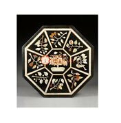Marble Dining Center Inlay Table Top Handicraft Marquetry Inlay Home Decor E1627