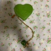 Lous Vuitton Heart Shaped Coin Case Green M76768582057 Pre-owned From Japan