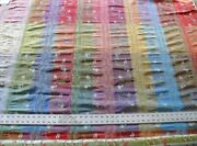 3.75y Scalamandre French Lace Flower Lampas Pink Blue Brown17 Msrp400-600/y