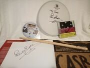The Beatles Pete Best Book, Drum Head, Drumstick, Pete Best Band Cd- Signed