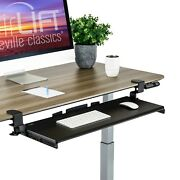 Seville Classics Airlift Clamp-on Keyboard Tray 31.5 W X 11 D Extra Large