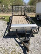 14 Foot Utility Trailer With Mounted Tool Box