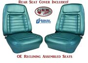 Fully Assembled Oe Reclining Deluxe Seats And Rear Seat Upholstery For 1968 Camaro