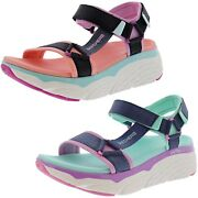 Skechers Womenand039s Max Cushioning -swag Hook And Loop Sport Sandals