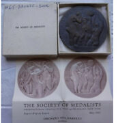 Complete 1962 Society Of Medalists, No. 65, Bathers And Dancers Bronze Medal 72mm