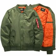 Menand039s Bomber Jacket Autumn Winter High Quality Thick Thin Motorcycle Outerwear