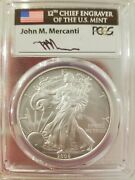 2008-w Mercanti Reverse Of And03907 Burnished Silver Eagle Pcgs Sp70 Rev