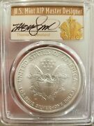 2008-w Cleveland Art Deco First Strike Reverse Of And03907 Silver Eagle Pcgs Sp70 Rev