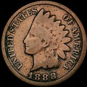 1888 Indian Head Cent Penny Snow-2 Lower Grade Highly Sought Variety Ih-792