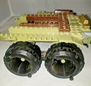 Lego Vintage Army Tank Double Axel And Top Tires Blue Base 1994