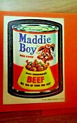 Wacky Packages 1970 Cloth Sticker Series 1 Maddie Boy Dog Food Near Mint To Mint