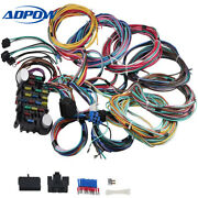21 Circuit Universal Wiring Harness Kit 18 Fuses Fit For Street Rod Wiring
