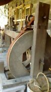 Traditional Woodturning Fly-wheel Lathe With Foot Treadleandnbsp