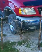 Antique Cast Wrought Iron Full Size Bed Frame Headboard Footboard And Side Rails