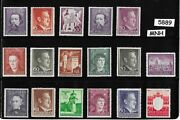 5889 Mnh Stamp Set / Adolph Hitler / Postage Used In Occupied Poland Wwii