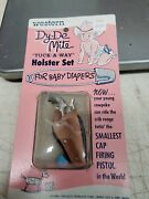 Vintage Dy De Mite Tuck A Way Holster Set For Baby Diapers - Cap Gun Great Condi