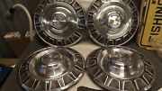 4 Oem 1970 70 Ford Mustang 14 Deluxe Hubcap Wheel Cover D0zz-1130-a