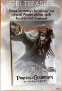 Disney Pin 59656 Wdsb Pirates Of The Caribbean Newsreel Cover Capt. Jack Sparrow