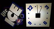Rare-vintage Miller Lite Ice Beer Sign - Lighted With Clock