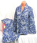 Victorias Secret Dreamer Flannel Feathers 100 Cotton Pajama Set Pajamas Nwt L