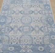 Hand Knotted Tribal Mamluk Fine Wool Oriental Area Rug In Blue 9x12