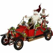 Mark Roberts 2020 Collection Santaand039s Vintage Car 18and039and039 Figurine