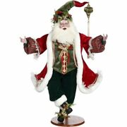 Mark Roberts 2020 Collection Naughty Or Nice Santa With Base 36.5and039and039 Figurine