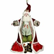 Mark Roberts 2020 Collection Under The Mistletoe Santa 62and039and039 Figurine