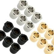 6 Gotoh 10mm To Vintage 1/4 Post Conversion Adapter Bushings For Guitar Tuner