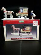 Lemax 1994 Horse Drawn Milk Eggs And Butter Delivery Wagon W Driver Milk Can